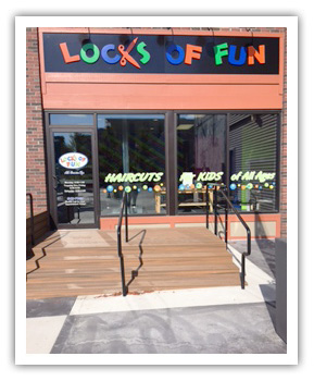 Locks of Fun on Lincolnway in Valparaiso, Indiana. Kids cuts with a smile!